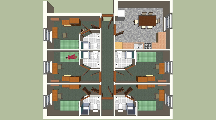 Student Accommodation Floor Plans | Rooms And Flats Within Our Halls Of Residence Student Accommodation